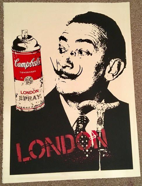 Mr. Brainwash, 'MR BRAINWASH LONDON- SALVADOR DALI SIGNED PRINT', 2009, Arts Limited