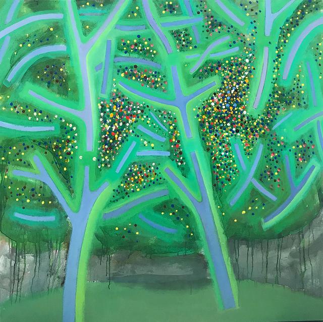 , 'Spring Trees,' 2018, CRUSHCURATORIAL