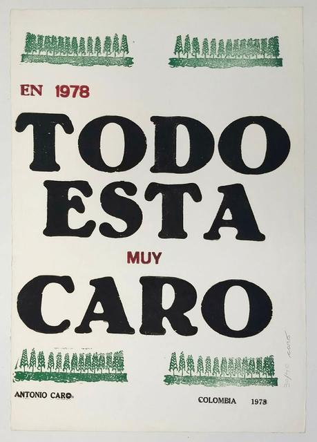 , 'Todo está muy caro,' 1978, Casas Riegner