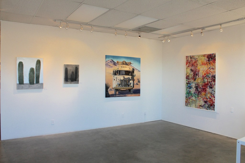 Main Gallery works by Frederick Fulmer, Marcia Geiger, & Adam Azeris
