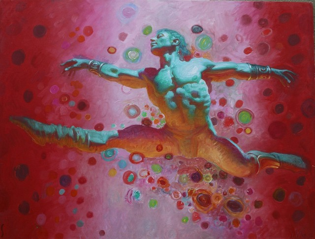 John Asaro, 'Spartacus - Freedom', 2020, Painting, Oil on Linen, Ethos Contemporary Art