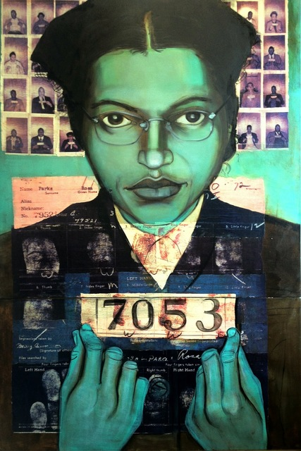 , 'Bus Boycotter Rosa Parks 1956,' 2010, Hudson Milliner Art Salon
