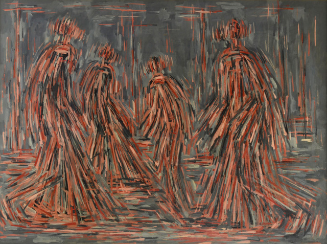 , 'Untitled (Walking Figures),' 1952, Offer Waterman