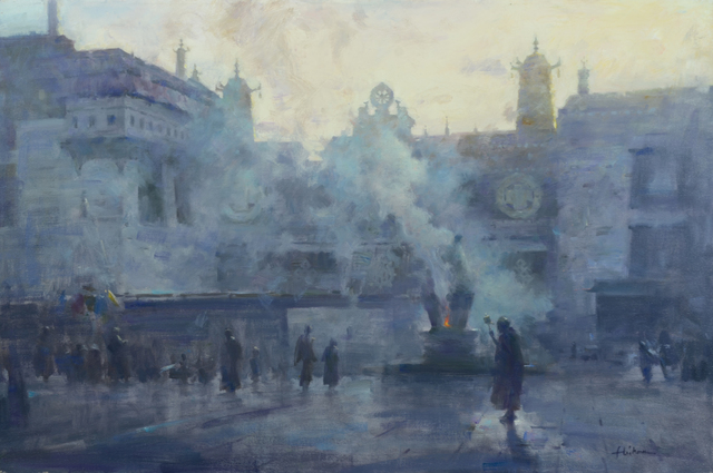, 'Morning Incense at Johang Monestery Lhasa,' , Trailside Galleries