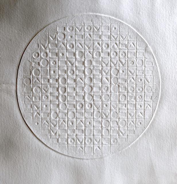 ", 'aquaprint on heavy handmade paper,"" Empire du Signe 11"" signed by the artist,' 2017, Galerie Estampe"