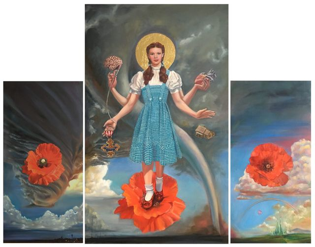 , 'The Dorthy Altarpiece Triptych ,' 2017, Carrie Haddad Gallery