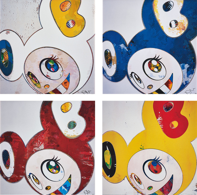Takashi Murakami, 'And Then x 6 (White: The Superflat Method, Blue and Yellow Ears); And Then x 6 (Blue: The Polke Method); And Then x 6 (Red Dots: The Superflat Method); and And then, and then and then and then and then / Lemon Pepper', 2006-13, Phillips