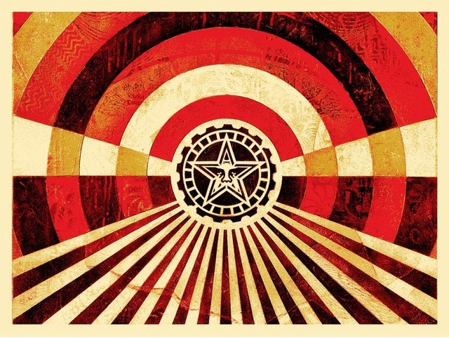 Shepard Fairey, 'Tunnel Vision (Gold)', 2018, Dope! Gallery