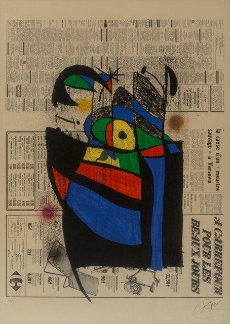 Joan Miró, 'Le journal', 1972, Heritage Auctions