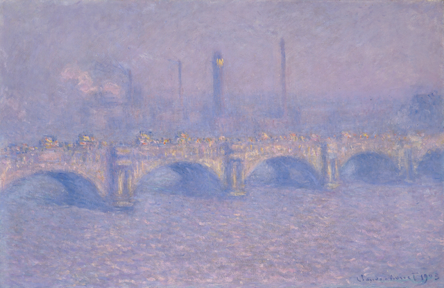 , 'Waterloo Bridge, Blurred sun,' 1903, ARoS Aarhus Art Museum