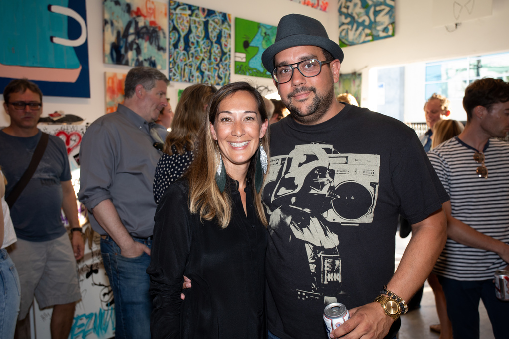 Artists Laura Schuler and Paul Roustan. Photo by Kat Monk.