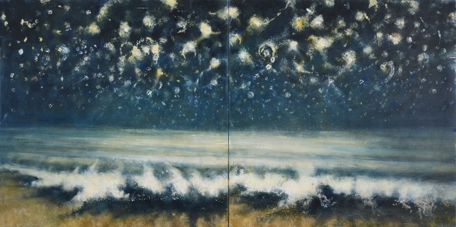 , 'Sea and Stars at Night II (diptych),' 2015, Marlborough London