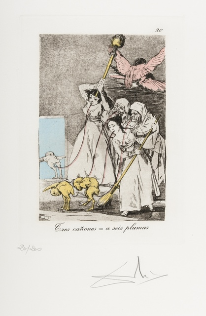 Salvador Dalí, 'Plate 20 (From Les Caprices de Goya de Dali) (M & L 867)', 1977, Forum Auctions