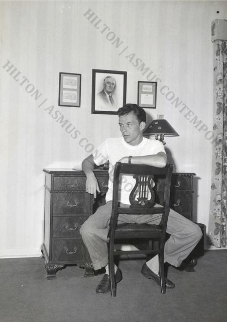 , 'Frank Sinatra - Sitting at Desk,' ca. 1945, Hilton Asmus