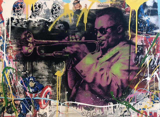 Mr. Brainwash, 'Miles Davis HPM (Pink)', 2015, Drawing, Collage or other Work on Paper, Mixed Media on Paper, Vanessa Villegas Art Advisory