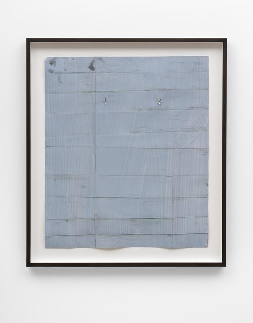 Özcan Kaplan, 'Papierarbeit (blau) #1, Januar 2018', 2018, FELD+HAUS