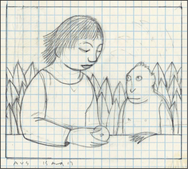 , 'Drawing for Loretta Feeding a Monkey,' 2017, Adelson Galleries