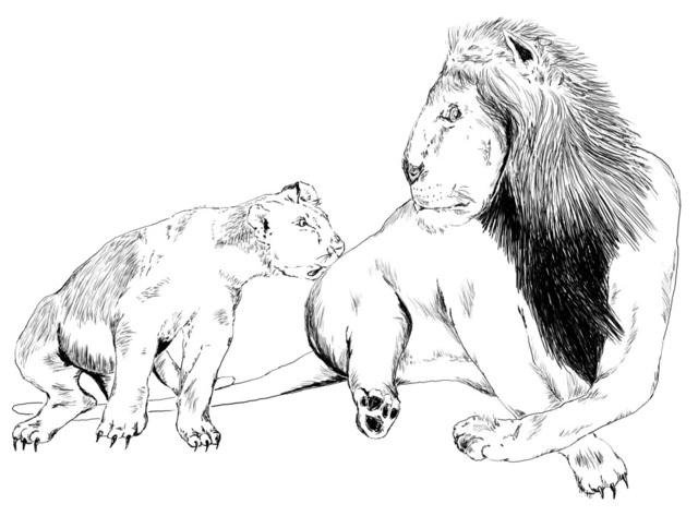 Gerald Wiggins, 'Lion and Cub', 2015, Creativity Explored