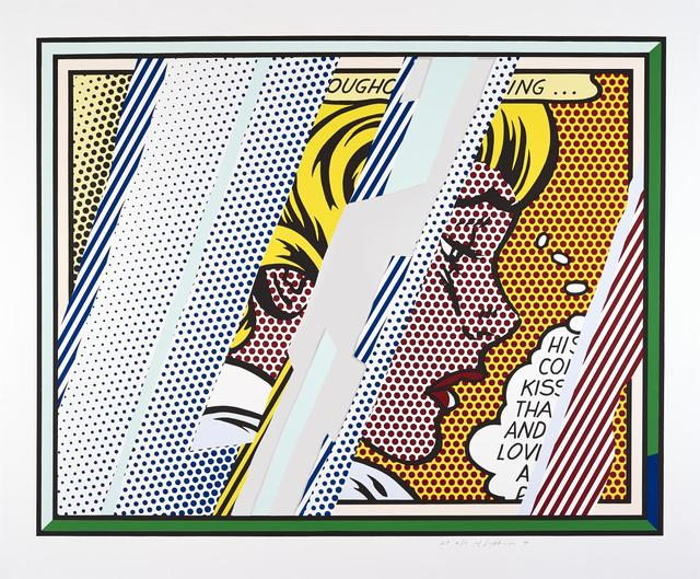 Roy Lichtenstein, 'Reflections on Girl', 1990, Kings Wood Art