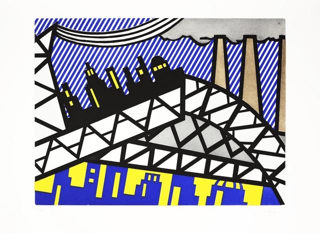 Roy Lichtenstein, 'Illustration for 'Bayonne en Entrant dans NYC', from La Nouvelle Chute de l'Amérique', 1992, Shapero Modern