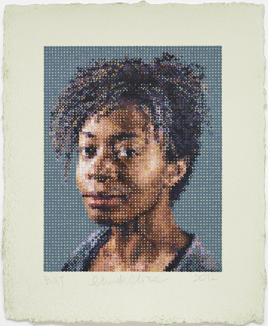 Chuck Close, 'Kara / Felt Hand Stamp,' 2012, Guild Hall