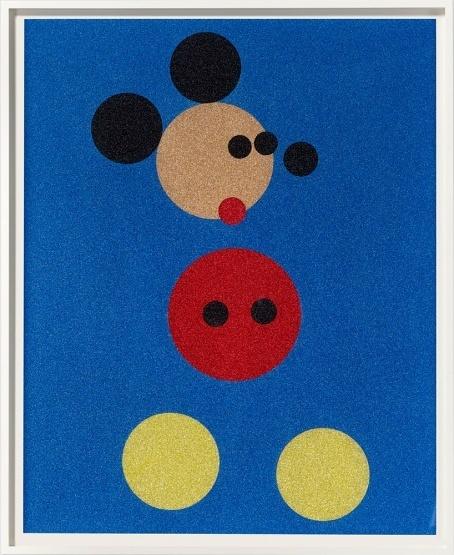 Damien Hirst, 'Mickey (Blue Glitter) ', 2016, Maddox Gallery