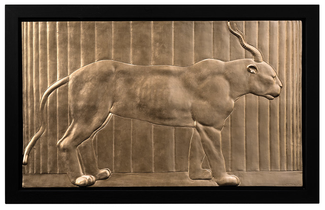 , 'GOLDEN BAS-RELIEF OF PANTHER-GAZELLE,' 2016, Opera Gallery