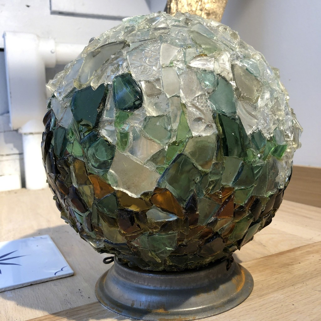 Raquel Fornasaro's Glass Globe installed in the display area.