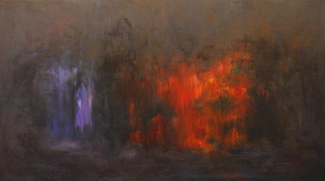 MD Tokon, 'Fire in the night', 2014, Painting, Acrylic on Canvas, Isabella Garrucho Fine Art