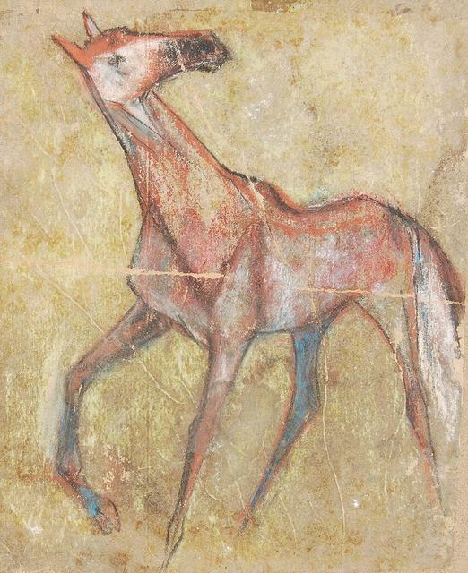 ", 'Horse I, Pastel on Sand Paper by Padma Shree Artist Sunil Das ""In Stock"",' 1950, Gallery Kolkata"