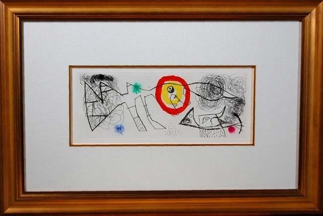 Joan Miró, 'Erik Satie (Poems and songs) # 1065', 1969, Baterbys