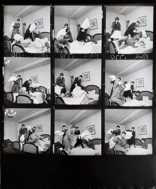 Harry Benson, 'The Pillow Fight AP (Beatles, Contact Sheet)', 1964, Upsilon Gallery