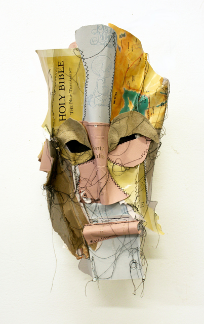 Chiffon Thomas, 'Metamorphosis 2', 2019, Mixed Media, Bible parts, leather, paper, and sewing thread, Jenkins Johnson Gallery