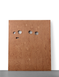 Cady Noland, 'Enquirer Page with Eyes Cut Out Template,' 1991, Sotheby's: Contemporary Art Day Auction
