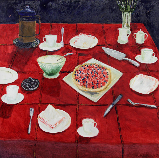 , 'Still Life with Red Tablecloth,' 2017, Michael Gibson Gallery