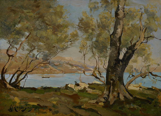 , 'Paysage au bord de la mer,' ca. 1874, Stoppenbach & Delestre
