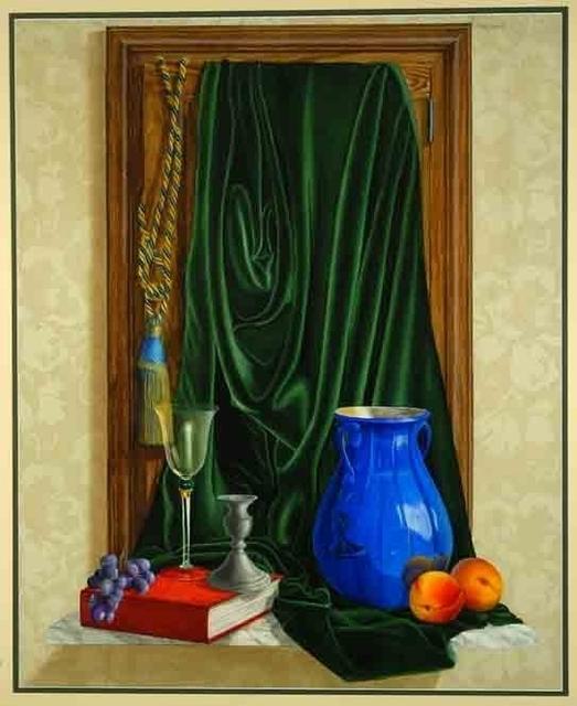 Patrick Kirwin, 'French Still Life (Blue Vase)', Painting, Trompe l'oeil - Acrylic on Mylar, Zenith Gallery