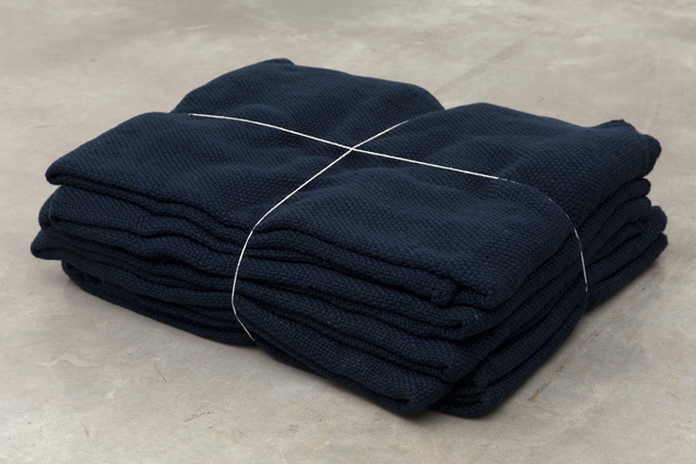 , 'In Alvorada, in Brazil, Vera Junqueira wove wool yarn the color of night and the same length as the distance from the earth to above the weather.,' , Casey Kaplan