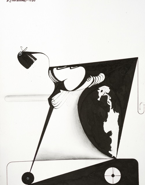 Eugene James Martin, 'Untitled', 1986, Drawing, Collage or other Work on Paper, Pen, ink and graphite drawing, Eugene Martin Estate
