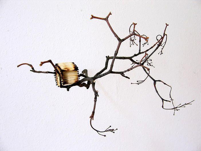 LEO Nest 2009 Wood (branch and matchsticks), glue 65 x 35 x 45