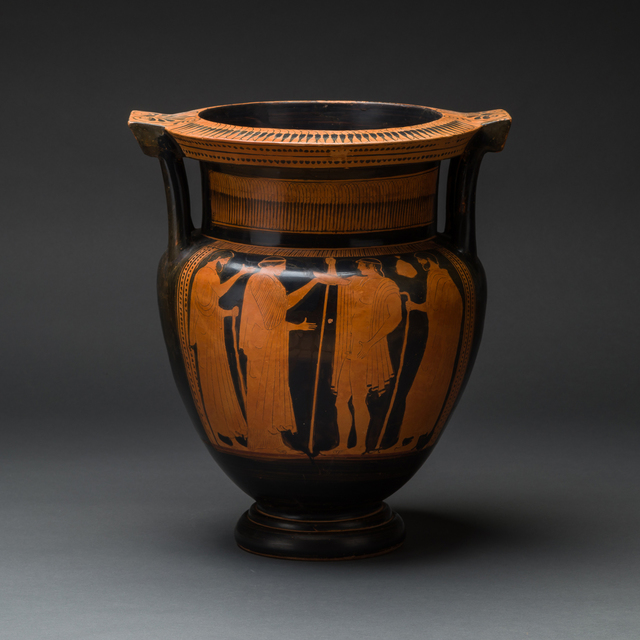 , 'Attic Red-Figured Column Krater Attributed to the Boreas Painter,' 460 BCE-430 BCE, Barakat Gallery