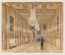 Alexandre-Dominique Denuelle, 'View of the Picture Gallery at the Château d'Eu (Vue de la Galerie au Château d'Eu)', 1844, Cooper Hewitt, Smithsonian Design Museum