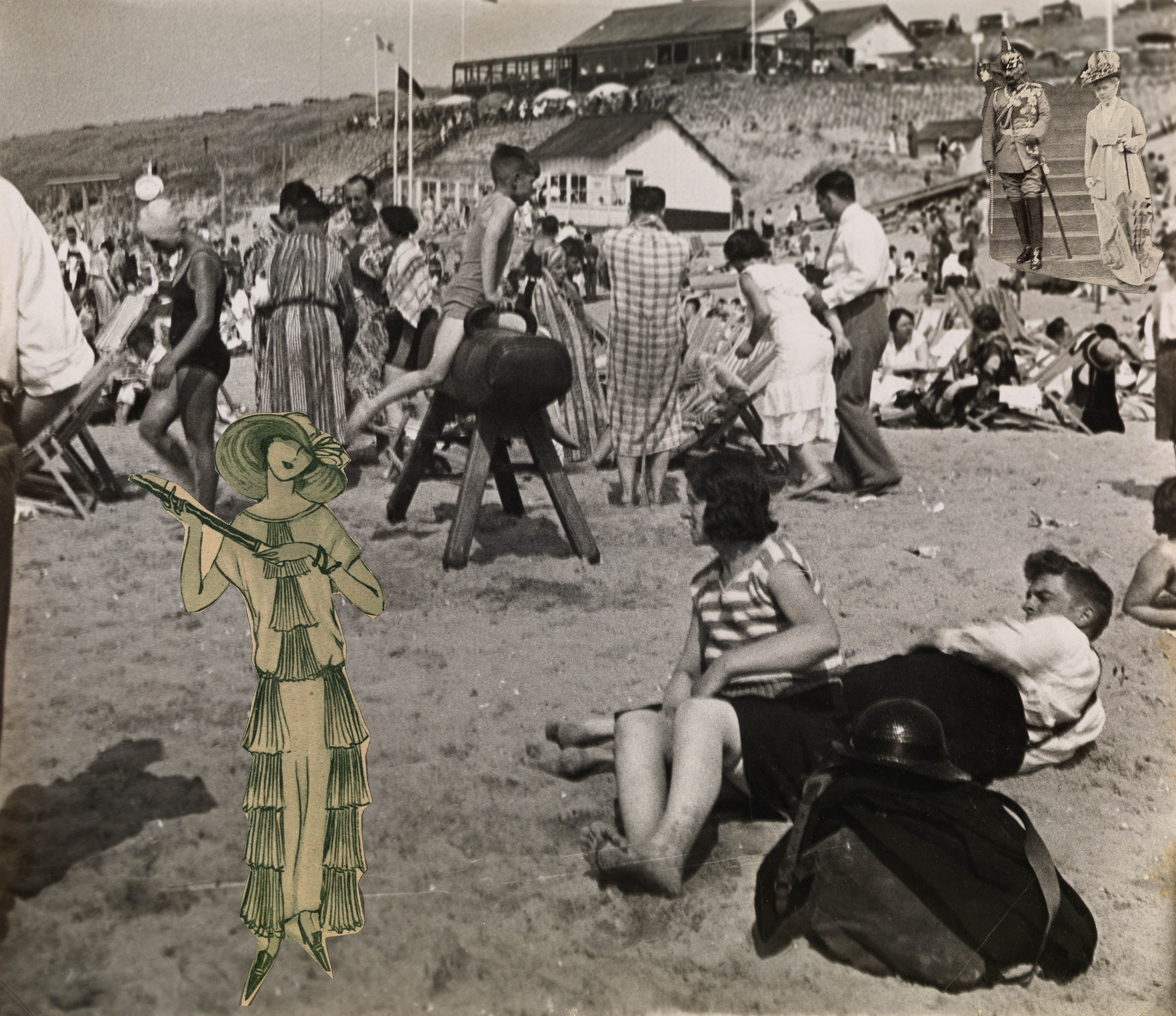 , 'The Kaiser on Zandvoort Beach,' 1930-1932, Osborne Samuel
