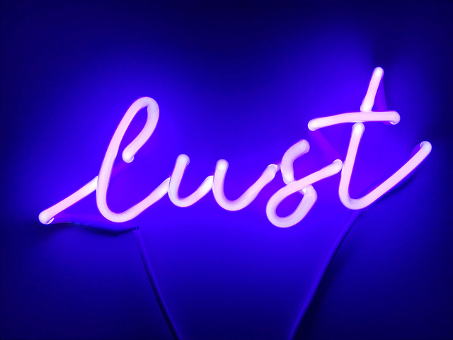 , 'lust (violet),' 2018, The Untitled Space