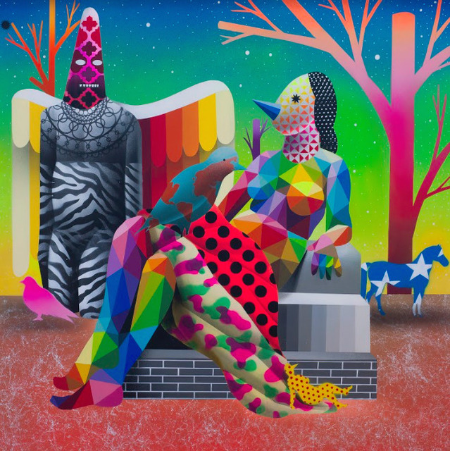 Okuda San Miguel, 'World Can't Fly Without Shaman', 2018, GGA GALLERY