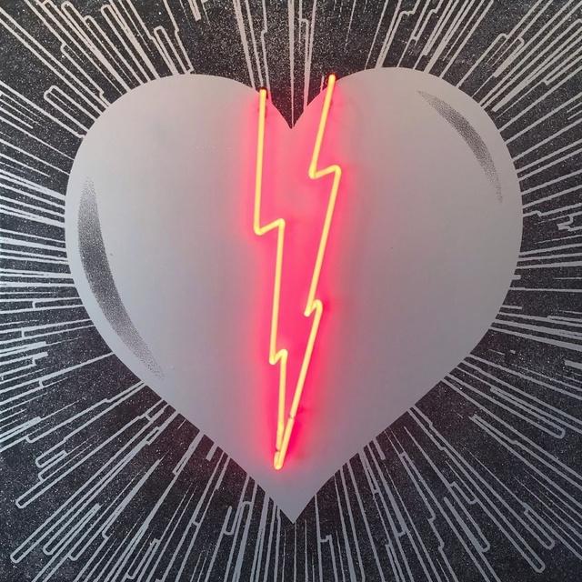 , 'Neon Heart Red Lightning,' 2017, Art Angels