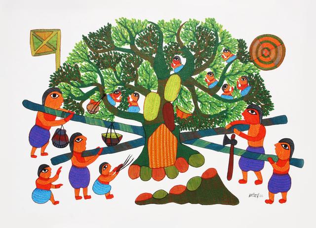 Durgabai Vyam, 'Mandap(Traditional Wedding Artefact)', 2008, Artbit Gallery