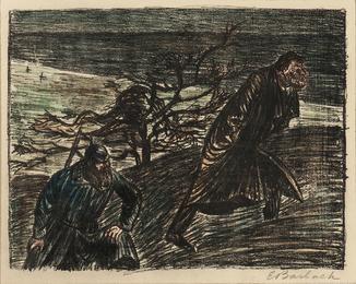 Three Lithographs from Der Arme Vetter: Ungleiches Paar I, Ungleiches Paar II; Schlechtes Gewissen III