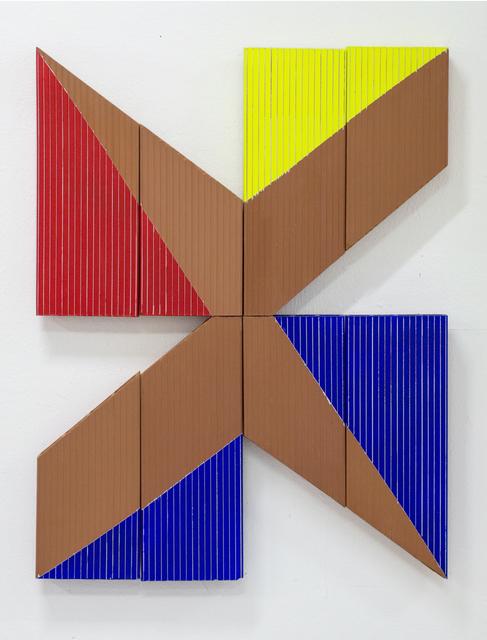 Oscar Abraham Pabon, 'Retina, Materia y memoria II-A', 2018, Installation, Acrylic on clay bricks, Dot Fiftyone Gallery