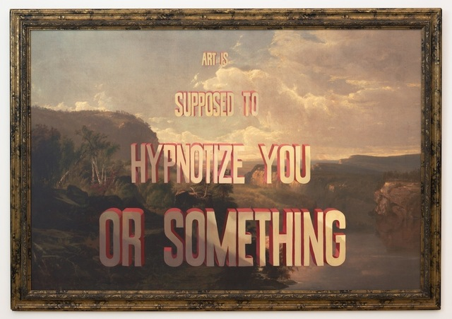 , 'Art is Supposed to Hypnotize You or Something,' 2014, Joshua Liner Gallery
